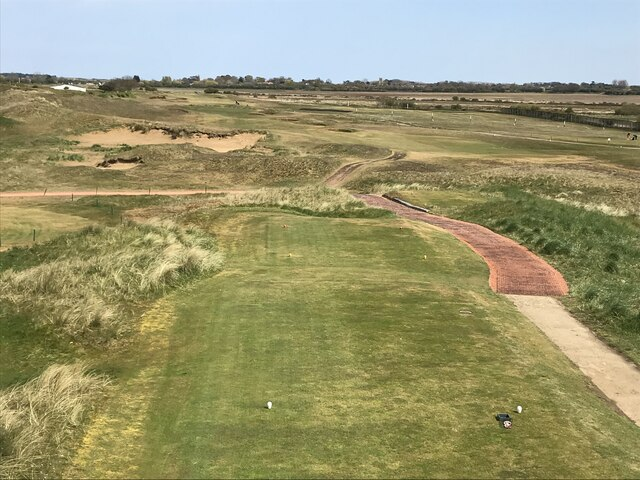 The first tee on Hunstanton golf course