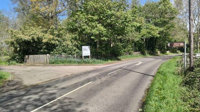 Cliveden woodlands car park entrance