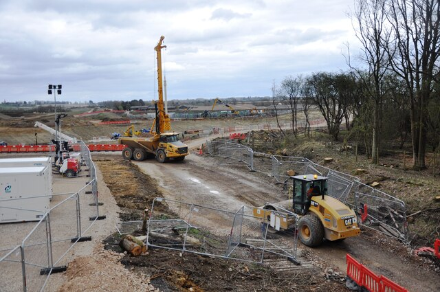 Where HS2 and East West Railway will cross