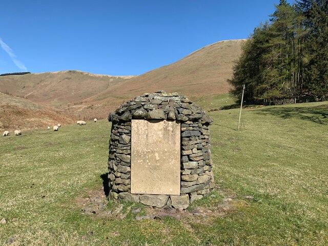 The Halliday memorial at Corehead