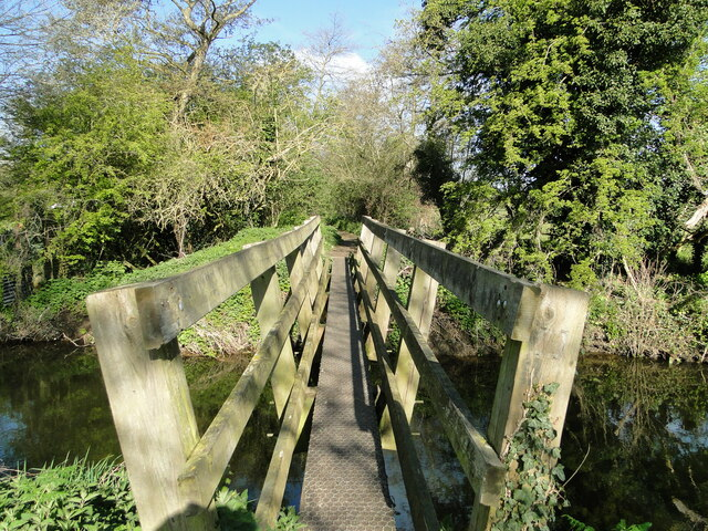 Footbridge over a relief channel