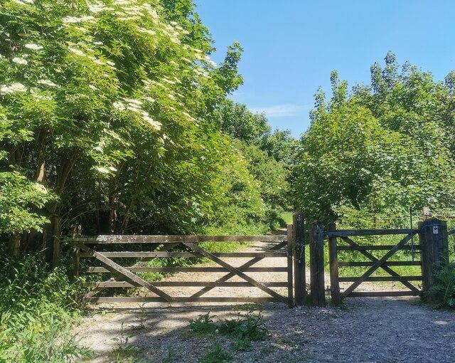 Gate to Lullington Heath National Nature Reserve