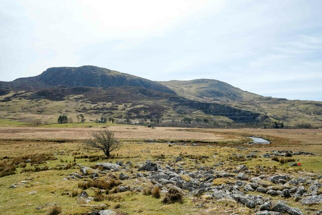 View towards Arenig Fawr and Moel Llyfnant