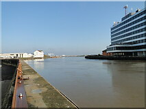 TG5207 : The River Yare from Riverside showing Havenbridge House by Adrian S Pye