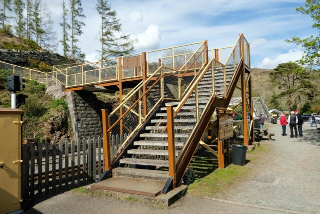 The Newly Painted Footbridge at Tan-y-Bwlch