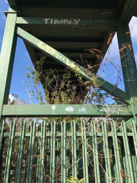 Footbridge pylon