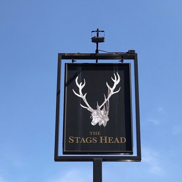 The sign of The Stags Head