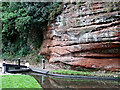 SO8275 : Sandstone by Caldwall Lock, Kidderminster by Roger  Kidd