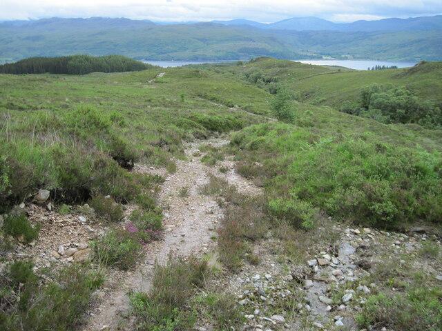 Track beside Allt nan Carnan