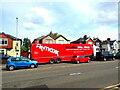 ST3090 : TK Maxx red lorry, Malpas, Newport by Jaggery