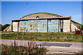 ST9081 : WWII Wiltshire: RAF Hullavington - 'B' site type E hangar (1) by Mike Searle