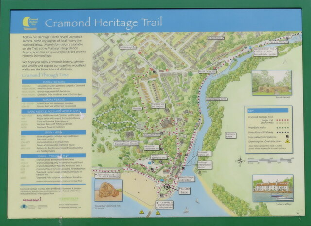 Cramond Heritage Trail - information board