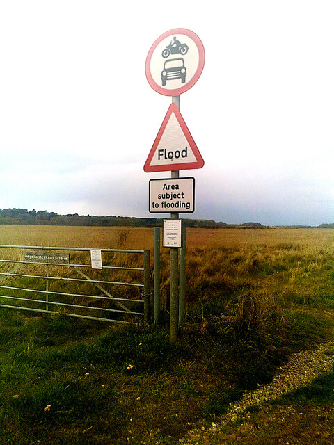 Roadsign at Dingle Marshes