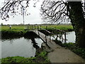 TM3390 : Footbridge over the River Waveney to Outney Common by Adrian S Pye