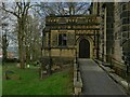 SE1738 : Idle Holy Trinity churchyard - accessible entrance by Stephen Craven