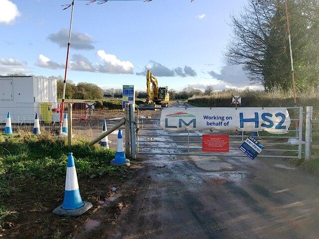 HS2 enabling works, Crackley-Burton Green, March 2021 (13)