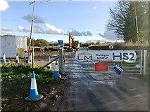 SP2775 : HS2 enabling works, Crackley-Burton Green, March 2021 (13) by Robin Stott