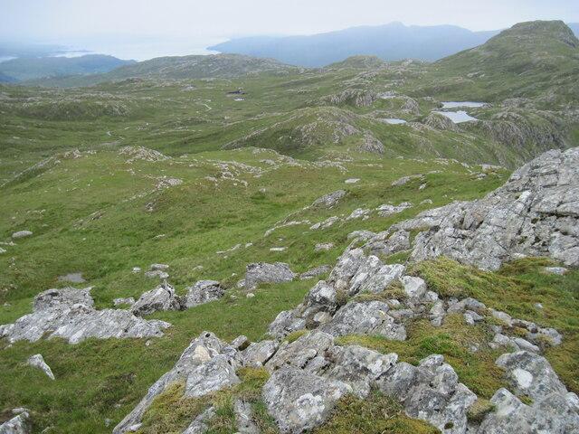The ridge towards Sgùrr a' Gharaidh