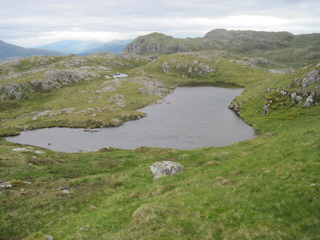 Lochan below Sgùrr a' Gharaidh