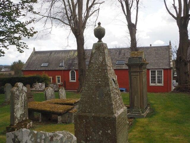 The former Village School and Kirkyard in Gordon