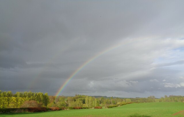 Rainbow over Caverton Hillhead