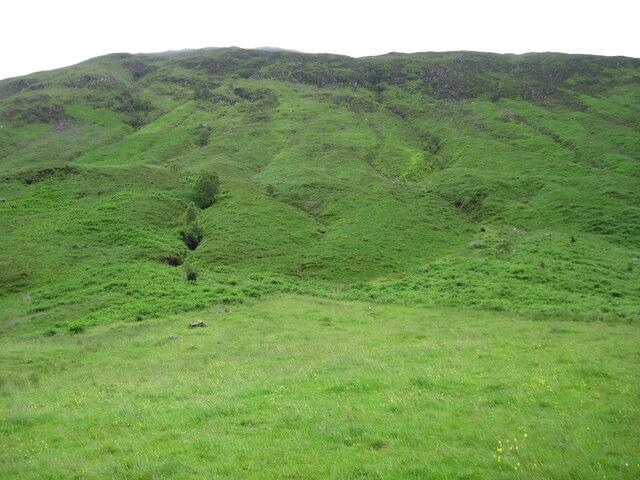 Lower slopes of Beinn Bhuidhe