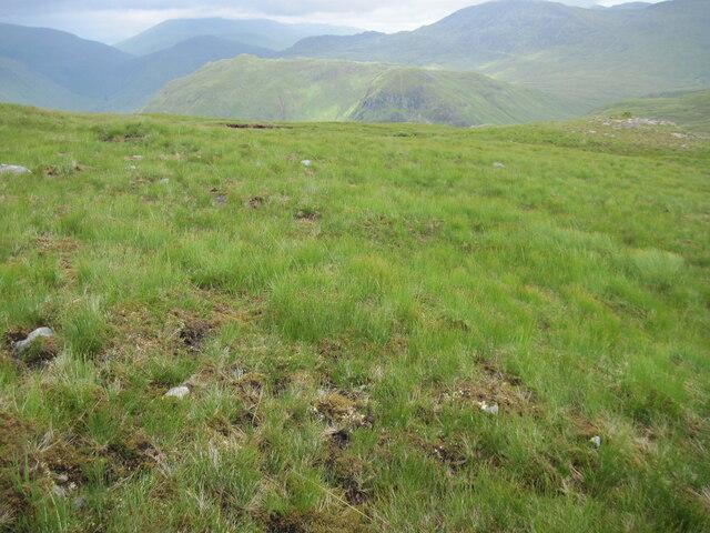 Northeast ridge below Carnan Cruithneachd