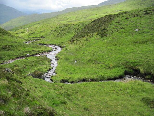 Junction of Allt Màm an Tuirc and Allt na Teangaidh Odhair