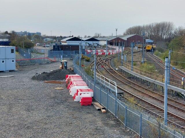 Redevelopment work, Tyne and Wear Metro Depot