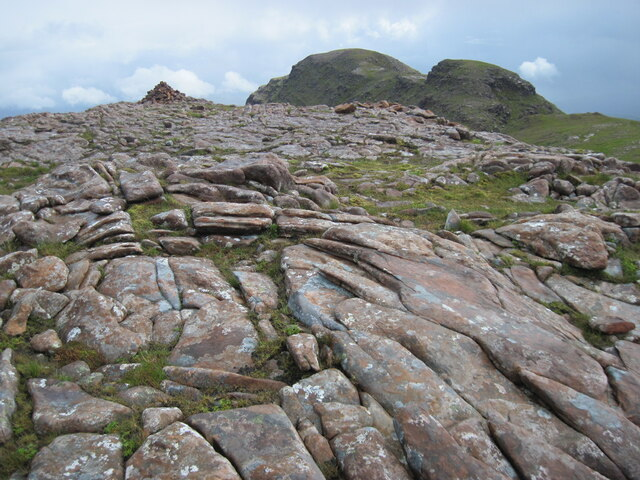 Cairn on minor top on Sgùrr a' Chaorachain