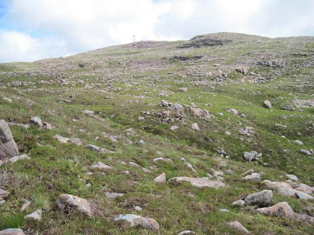 Rocky moorland below Sgùrr a' Chaorachain