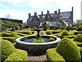 ST0519 : Parterre garden and water fountain, Holcombe Court in the parish of Holcombe Rogus by Marika Reinholds