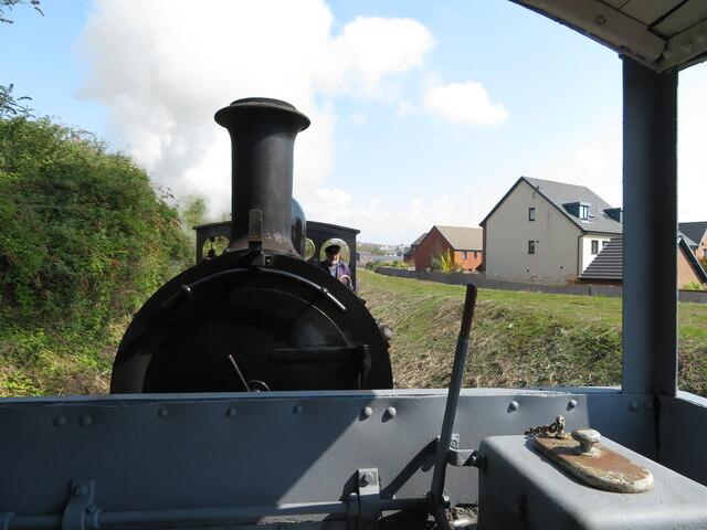 Brake van ride on the Barry Tourist Railway