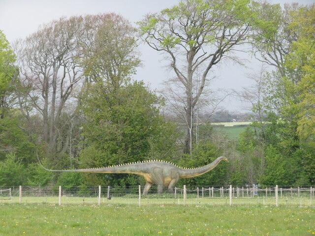 Dinosaur in the grounds of Fonmon Castle