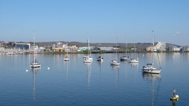Boats in Cardiff Bay