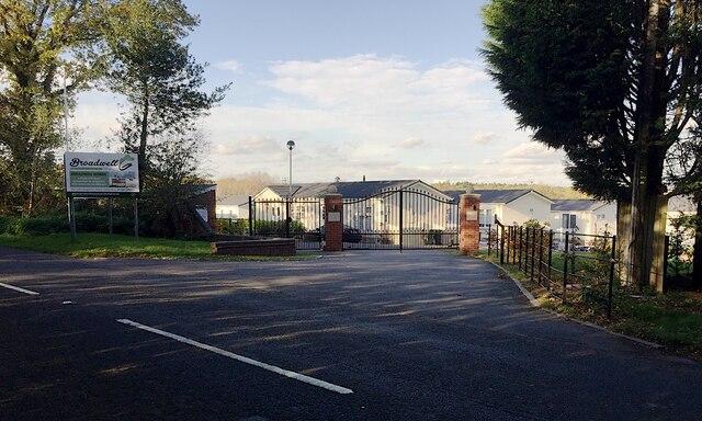 Entrance to Broadwell Woods, Red Lane, Burton Green