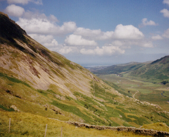 The Ogwen Valley from the lower slopes of Y Garn