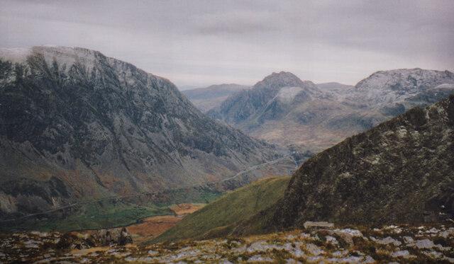 The Ogwen Valley from the summit of Mynydd Perfedd