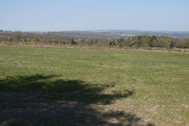 Field near Stanedge Golf Club