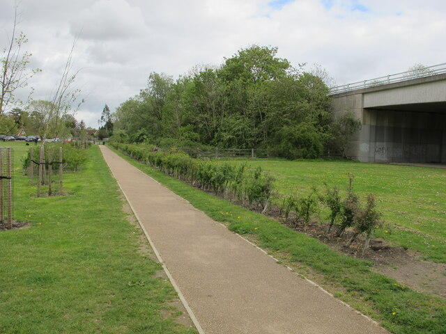 Gossmore park, Marlow, with A404 flood tunnels
