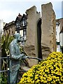 SO7745 : Elgar statue and the Enigma Fountain  by Philip Halling