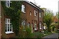 TM2972 : Laxfield: Church Villas on Church Walk by Christopher Hilton