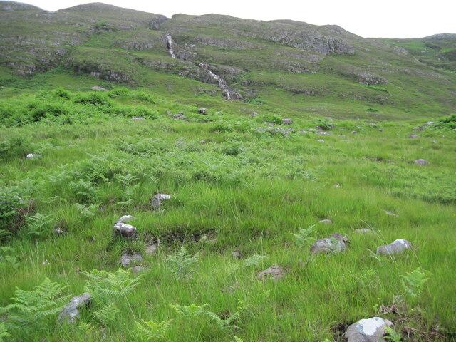 Hillside towardsAllt Creag a' Chàise