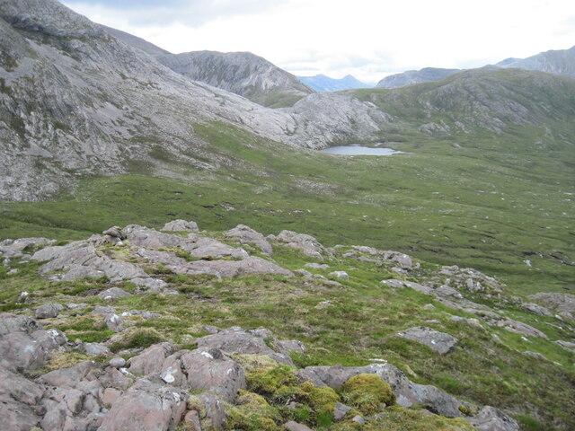 Meall an Daimh towards Loch a' Bealach Ruadh Stac