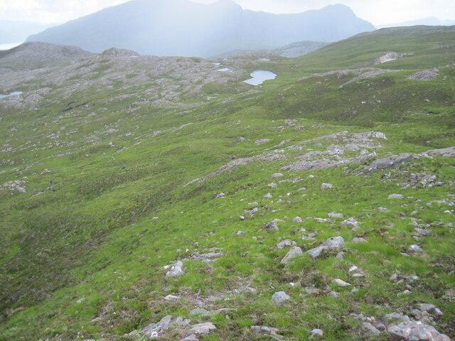 Below Meall an Daimh towards Loch na Bruthaich Ruaidh