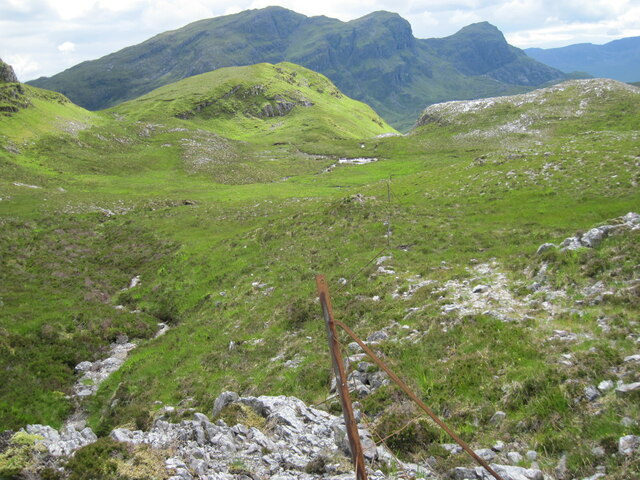 Remains of old fence near Lochan Dubh