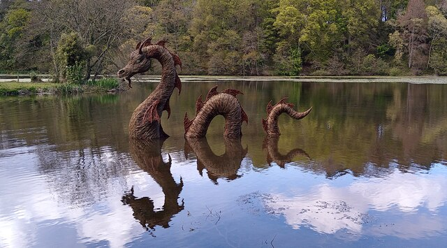 Monster in the Swan Pond at Culzean Castle