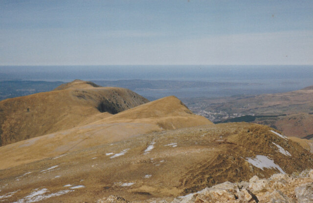 The summits of the Northern Glyderau from Y Garn