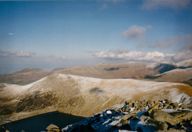 View North-eastwards from The Summit of Elidir Fawr