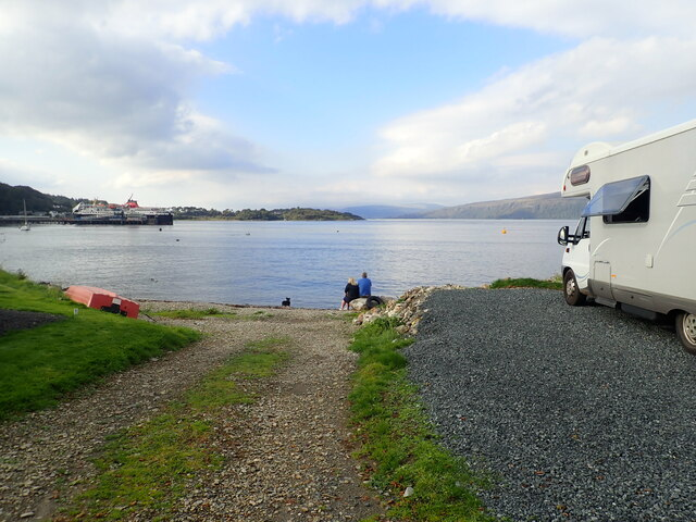 Craignure Bay from Shielding Holiday Campsite